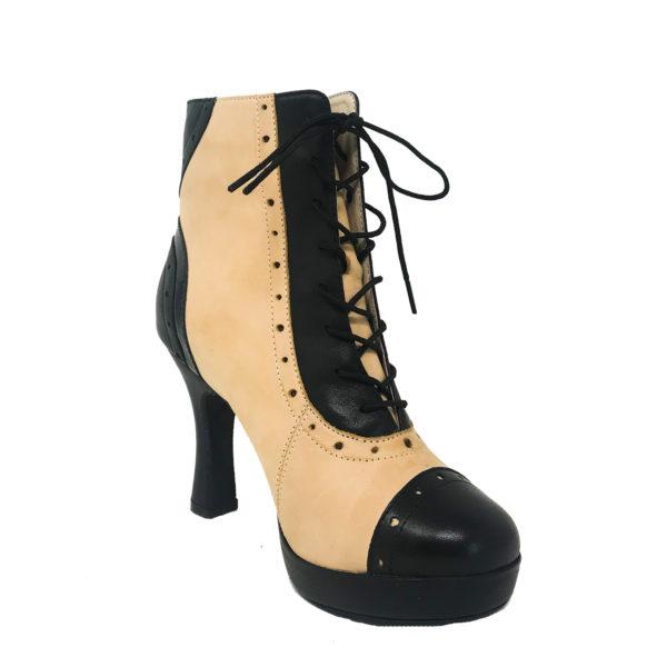 Czarina Chic Platform 1_2 RS-Leather-Black-Taupe-F3_5-I