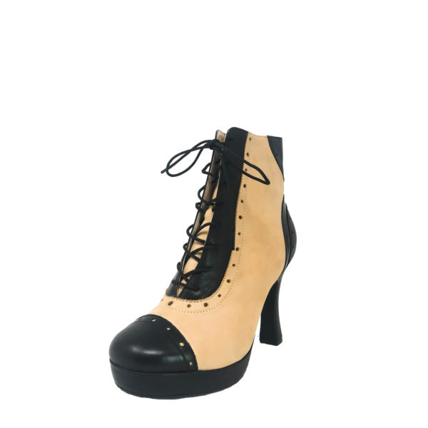 Czarina Chic Platform 1_2 RS-Leather-Black-Taupe-F3_5-O