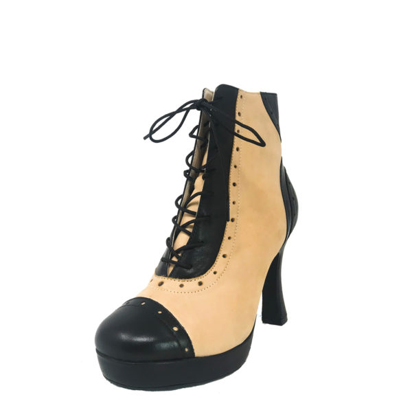 Czarina Chic Platform 1_2 RS-Leather-Black-Taupe-F3_5-OP