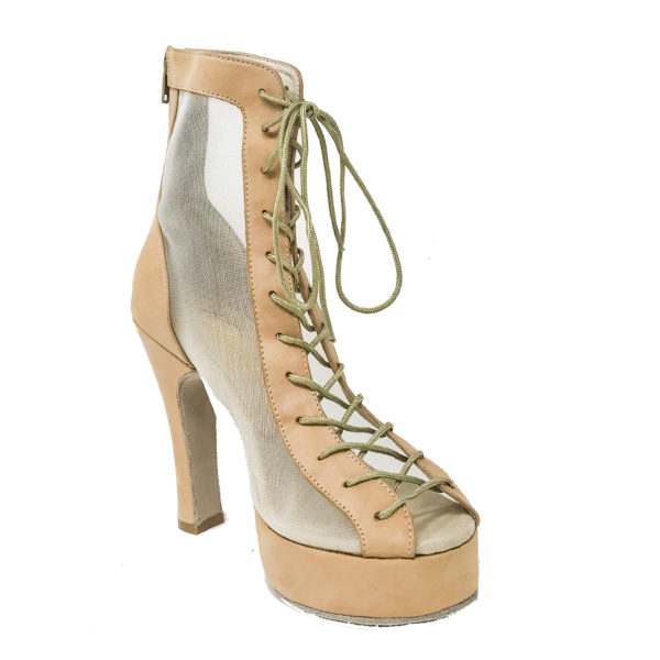 Godiva Chic Platform 1-Leather-Taupe-N4-I