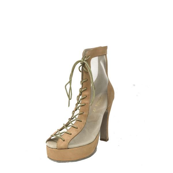 Godiva Chic Platform 1-Leather-Taupe-N4-O