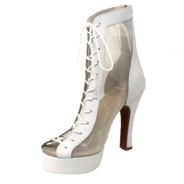 Godiva Chic Platform Leather White N4