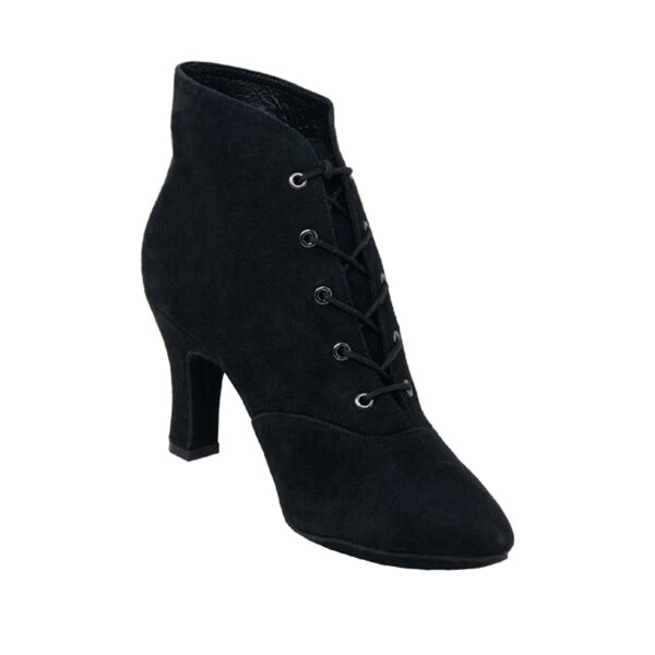 Lady Di-Double Sole-Suede- Black-N3-I
