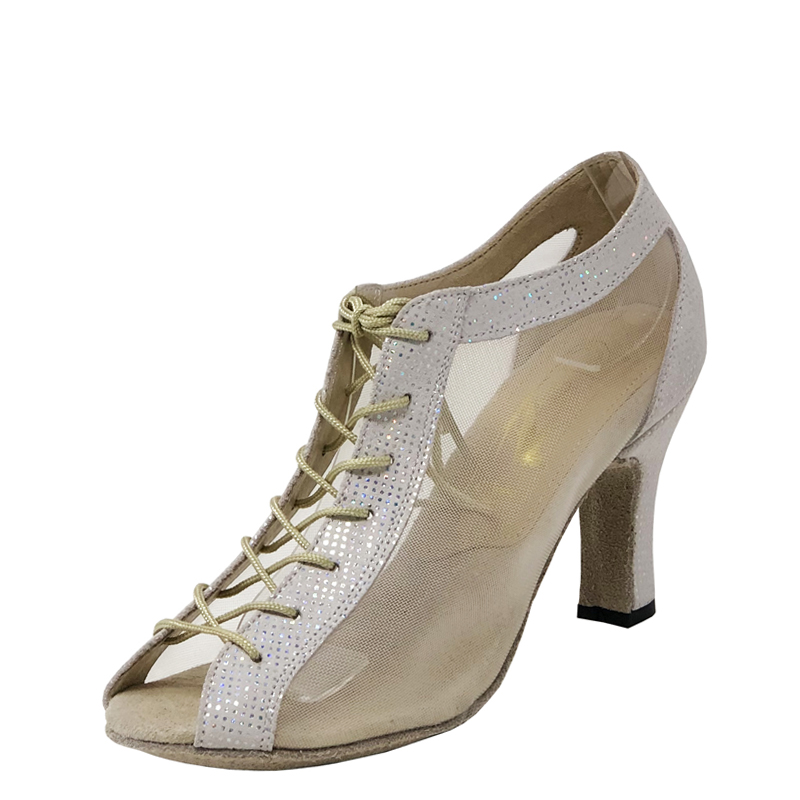 Lady Godiva CB Double Sole Point Leather/Mesh MultiGold
