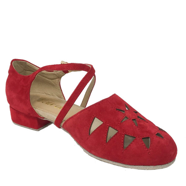 New Princess Flexi-DS-Suede-Red-1-I