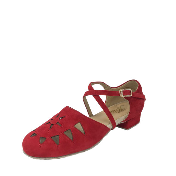 New Princess Flexi-DS-Suede-Red-1-O