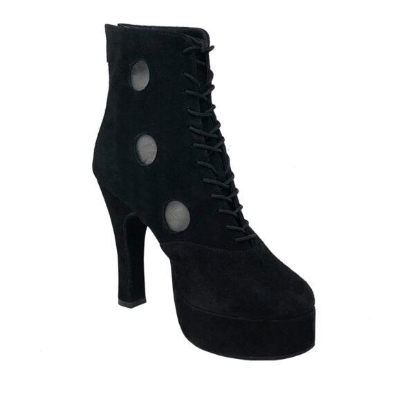 Czarina Chic 3 Platform 1 SuedeMesh Black N4-I