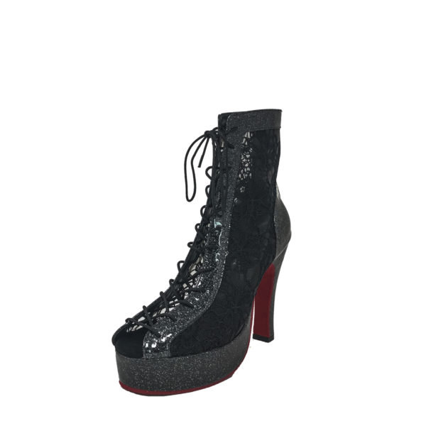 Godiva Chic Platform 1 Red Sole-Patent 2-Black-N4-O