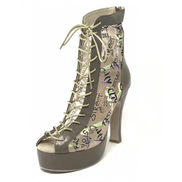 Godiva Chic Platform Leather Tan Brown New Mesh ABC n4