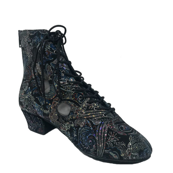 Victoria 3 Flexi DS-Flower Leather-Multi Black-YCO-I