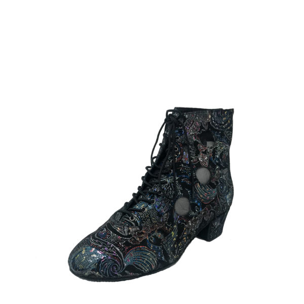 Victoria 3 Flexi DS-Flower Leather-Multi Black-YCO-O