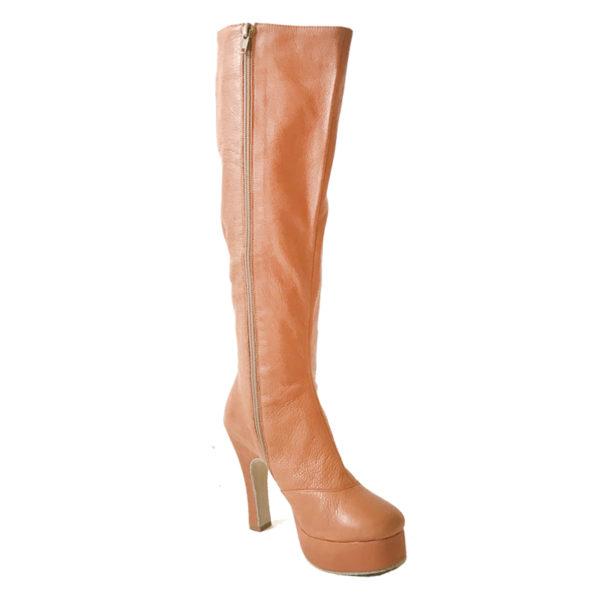 Czarina Chic Knee High-Platform 1-Leather-Tan-N4-I