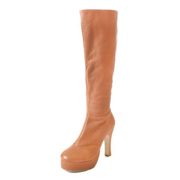 Czarina Chic Knee High-Platform 1-Leather-Tan-N4-O
